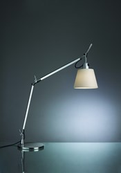 Artemide Tolomeo Table Lamp With Shade Natural Silver White