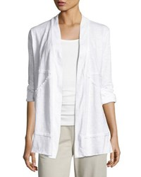 Neon Buddha Forever Young Open Front Jacket White