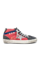 Golden Goose Canvas Mid Star Sneakers In Red