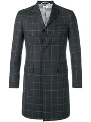 Thom Browne Windowpane Shadow Check Chesterfield 60