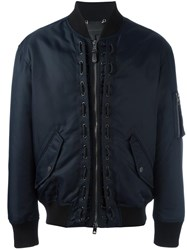 Diesel Black Gold Zipped Arm Bomber Blue