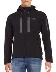 Jack Wolfskin Softshell Hooded Jacket Black