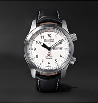 Bremont Martin Baker Ii Stainless Steel And Leather Watch White