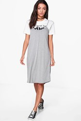 Boohoo Liya Cami Swing Dress Grey Marl