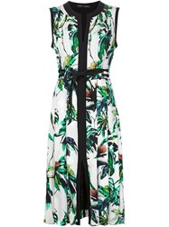 Proenza Schouler Pleated Floral Shift Dress White