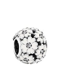 Pandora Design Pandora Charm Sterling Silver And Enamel Primrose Meadow Moments Collection White