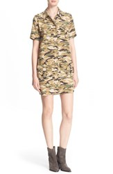 Women's Equipment 'Remy' Camo Print Silk Utility Dress