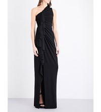 Givenchy Ruched Jersey Gown Blk