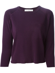 Golden Goose Deluxe Brand Round Neck Sweater Pink And Purple