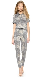 Twelfth St. By Cynthia Vincent Shirt Jumpsuit Lace Snake Print