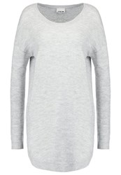Noisy May Jumper Light Grey Melange