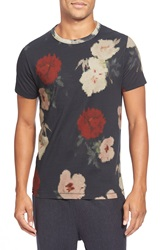 French Connection 'Pixel Peonie' Graphic T Shirt Marine Blue