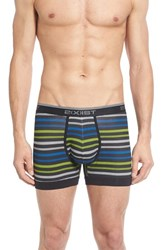 2Xist Men's 2 X Ist 3 Pack Stretch Boxer Briefs Black Black Lime Green