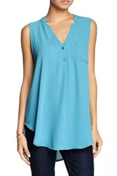 Lush V Neck Tank Juniors Blue