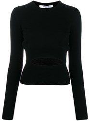 Givenchy Cut Out Detail Knitted Sweater Black