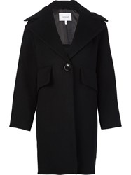 Derek Lam 10 Crosby Wide Lapel Coat Black
