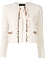 Paule Ka Embellished Fitted Jacket White