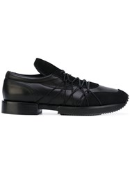 A.F.Vandevorst Elastic Lace Up Sneakers Women Goat Skin Leather Rubber 39 Black