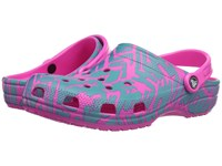 Crocs Classic Graphic Ii Clog Turquoise Neon Pink Clog Shoes Blue