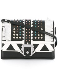 Paula Cademartori Studded Shoulder Bag Black