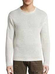 Polo Ralph Lauren Linen Rollneck Sweater White