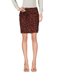 Maison Scotch Mini Skirts Brown