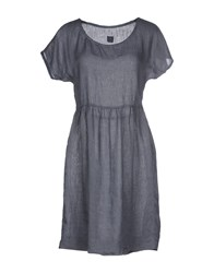120 Lino Dresses Short Dresses Women Grey