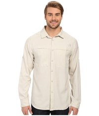 The North Face Long Sleeve Traverse Shirt Moonstruck Grey Heather Prior Season Clothing White