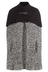 Philosophy Di Lorenzo Serafini Wool Cable Knit Cape Grey