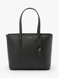 Kate Spade New York Margaux Large Leather Tote Bag Black