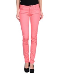 Maison Espin Casual Pants Salmon Pink