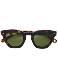 Ahlem Square Frame Sunglasses Brown