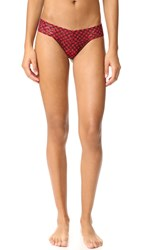 Hanky Panky Holiday Check Low Rise Thong Red Black