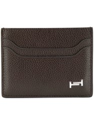 Tod's Logo Plaque Card Holder Brown