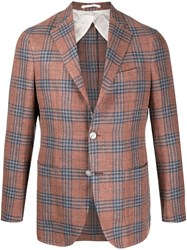 Barba Fitted Plaid Blazer 60