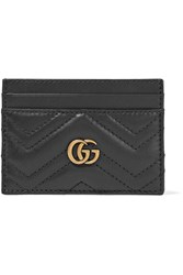 Gucci Gg Marmont Quilted Leather Cardholder Black
