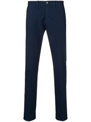 Jeckerson Tailored Fitted Trousers Blue