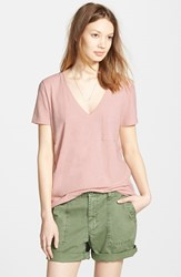 Women's Madewell 'Whisper' Cotton V Neck Tee Gentle Blush