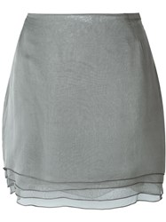 Romeo Gigli Vintage Layered Mini Skirt Grey