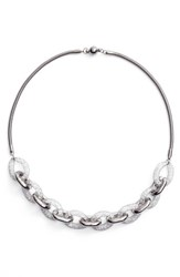 Elise M. 'S Signia Chain Link Necklace Dark Silver