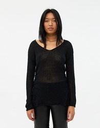 Which We Want Gretta Side Lace Up Sweater Black