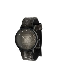 South Lane Avant Surface Watch Calf Leather Stainless Steel Black