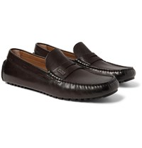 Hugo Boss Leather Driving Shoes Brown
