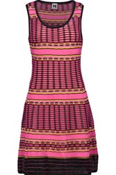 M Missoni Flared Crocheted Cotton Blend Mini Dress Multi