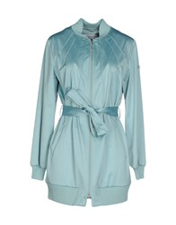 Escada Sport Coats And Jackets Full Length Jackets Women Turquoise