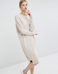 Paisie Jumper Dress With Funnel Neck Cream