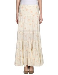 Denim And Supply Ralph Lauren Long Skirts Ivory