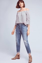 Pilcro High Rise Relaxed Boyfriend Jeans Blue