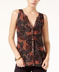 Sanctuary Craft Printed Sleeveless Top Printed Multi