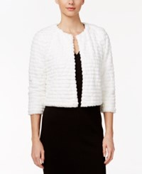 Calvin Klein Faux Fur Shrug Winter White